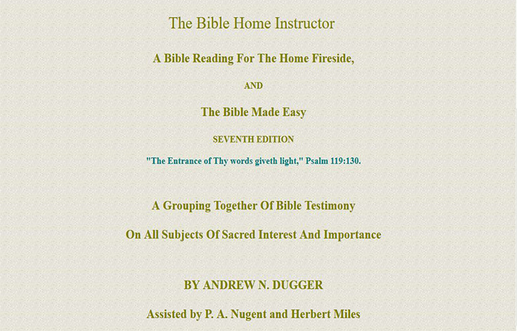 The Bible Home Instructor